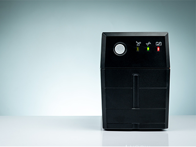 front view of an Uninterruptible Power Supply
